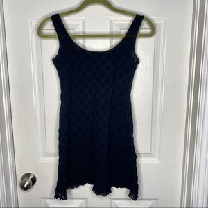 Black lace only hearts nightie
